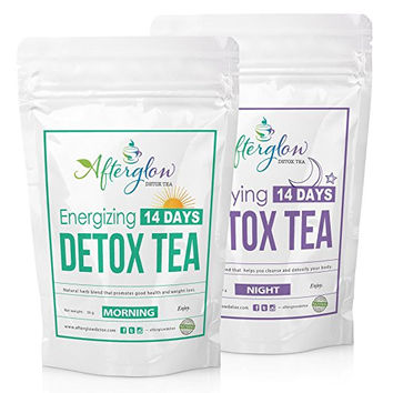 Afterglow Detox Tea Combo (Morning and Night),  14 Days Detox