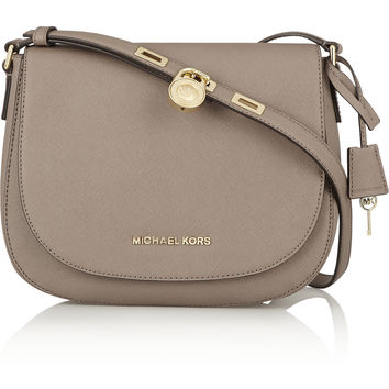 MICHAEL Michael Kors - Hamilton large textured-leather shoulder bag
