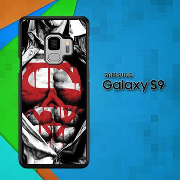 Superman Logo Artwork V1632 Samsung Galaxy S9 Case