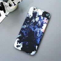 Marble Stone Slim Matte Hard Plastic Phone Back Cover Case For iPhone 7 5s SE 6 6s 6 Plus -0320