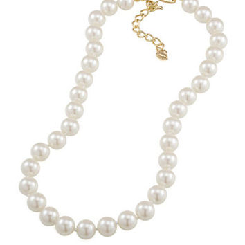 Carolee Adjustable Pearl Strand Necklace