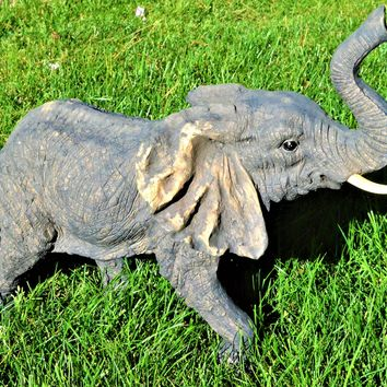 Resin Elephant Realistic Figurines 21""