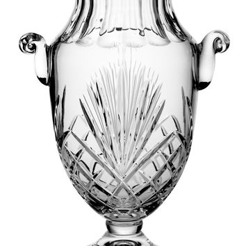 """Majestic Gifts MA-117 Hand Cut Crystal Footed Vase with Handles, 16""""H"""