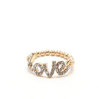 With Love From CA Love Stretch Ring at PacSun.com