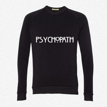 Psychopath fleece crewneck sweatshirt