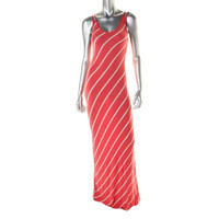 Aqua Womens Jersey Striped Tank Dress