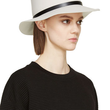 Rag And Bone Off-white Wool Fedora