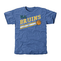UCLA Bruins Retro Stripes Tri-Blend T-Shirt - True Blue