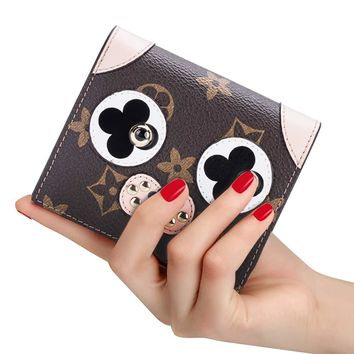 LeDuruo Women Credit Card Holder Wallet Leather Small Cute Wallet for Women Coin Purse