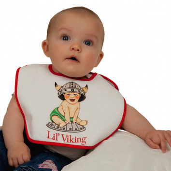 Norwegian Gift Idea Baby Bib: Lil' Viking