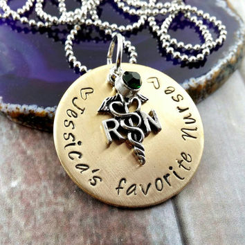 Nurse Gift~ Nurse Appreciation~ RN Gifts~ Nurse Gift~ Nurse Jewelry~ Nurse Necklace~ Nurse Graduation Gift~ Custom Nurse Gift~ #N71