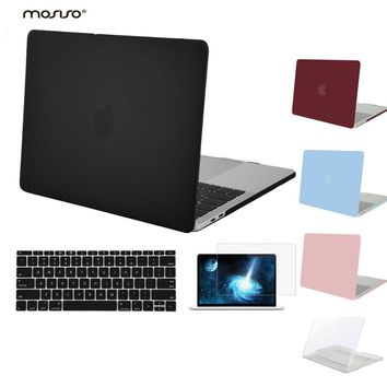 MOSISO for Macbook Pro 13 Touch Bar 2016 2017 Pro15 A1707 Clear Matte Hard Case Cover for Mac book Pro13 A1706/1708 Laptop Shell
