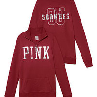 University of Oklahoma Bling Half-zip Pullover - PINK - Victoria's Secret