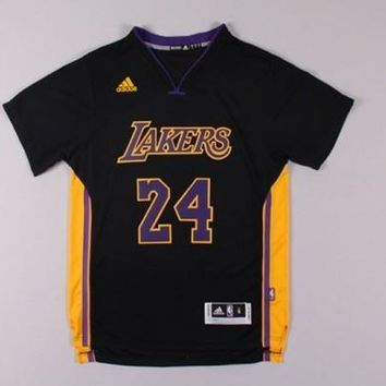 Los Angeles Lakers Kobe Bryant #24 Jersey Black
