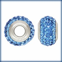 Buy Blue Swarovski Elements Crystal Bead Fits Pandora Style Bracelets