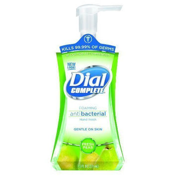 Dial Complete 1282572 Fresh Pear Antimicrobial Foaming Hand Soap with Tabletop Pump, 7.5oz Bottle (Pack of 8)