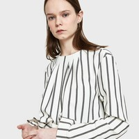 Tibi / Lucci Stripe Sculpted Top