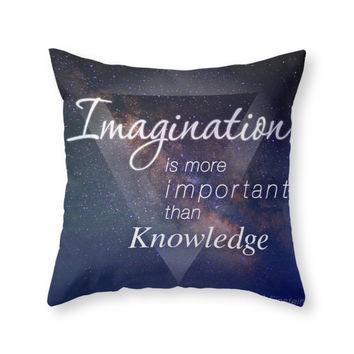 Society6 Imagination Is M Throw Pillow