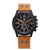 Brown Leather Novelty Sports Watch