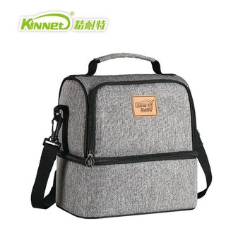 KinNet Thermal bag breast milk package Double Layers Insulated Cooler Bag Red Oxford Shoulder Bag For Lunch Large Lunch Bag