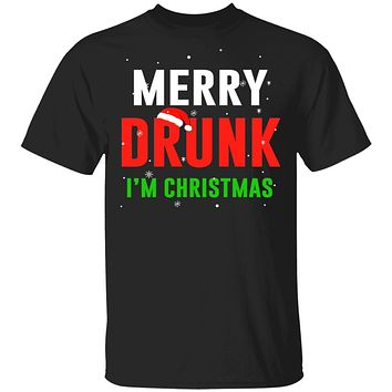Merry Drunk I'm Christmas Wine Lover Funny Drinking