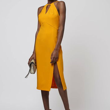 Marigold Split Midi Dress