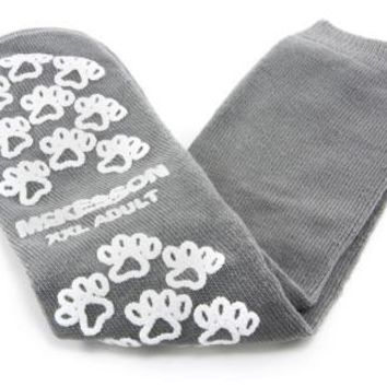 McKesson Terries 40-3800 Slipper Socks Adult 2X-Large Gray Above the Ankle- 48 Count