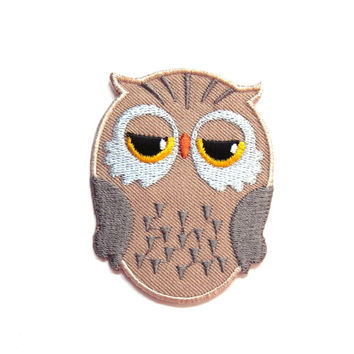 Owl/ Family/ Brown/ Iron on Patch/ Etsy/ Patches/ Applique/Embroidery/ Kids