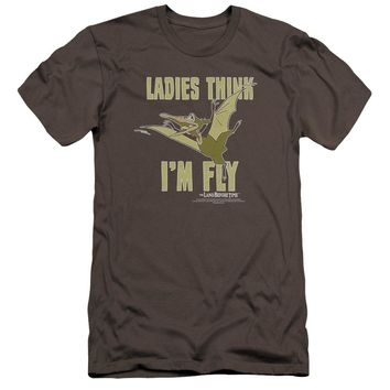 Land Before Time - I'm Fly Premium Canvas Adult Slim Fit 30/1 Shirt Officially Licensed T-Shirt