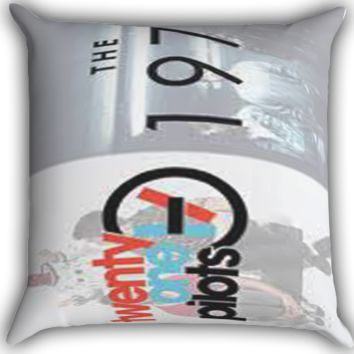 21pilots and the 1975 Zippered Pillows  Covers 16x16, 18x18, 20x20 Inches