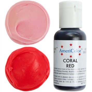 Coral Red Gel Paste Food Coloring