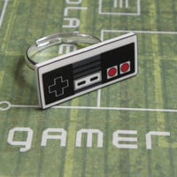 GIRL GAMER Nintendo NES Video Game Controller Ring by PlayBox