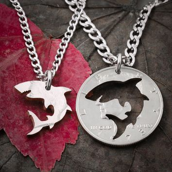 Great White Shark Best Friends Necklaces