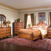 Marquette Park Chicago Bedroom Marquette Park Cognac King Panel Bed