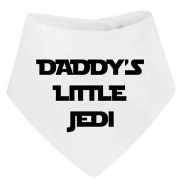 Daddy's Little Jedi Cute Nickname Parody Bandana  Baby Bib