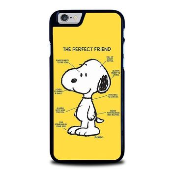 snoopy dog perfect friend iphone 6 6s case cover  number 2