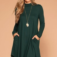 Randi Hunter Green Swing Pocket Dress