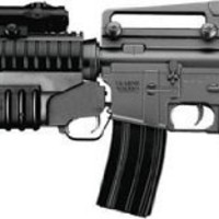 M4 3181 AEG Electric Airsoft Rifle, M203 Spring Grenade Launcher, Two Stocks, FPS-300, Extra Magazine