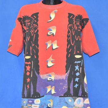 90s Santana All Over Latin Print t-shirt Extra Large