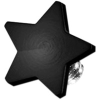 Black Titanium 4mm Flat Star Dermal Top | Body Candy Body Jewelry