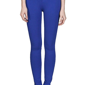 Skinny Zipper Jegging Pants (Royal Blue) - FINALSALE