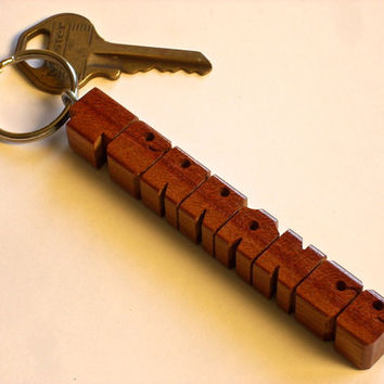 Bloodwood Name Keychain - Handmade to Order in the USA