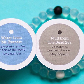 NEW Authentic Blue Medium Lokai Bracelet Mud from Dead Sea, water from MT Everest