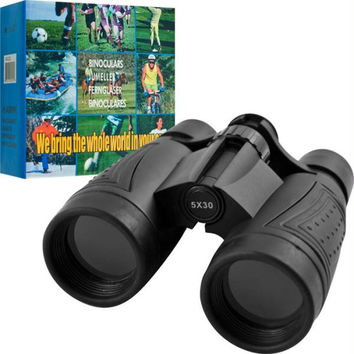 Trademark 5 x 30mm Binoculars with Neck Strap & Cloth