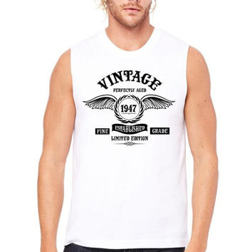 Vintage Perfectly Aged 1947 Muscle Tank