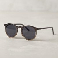 Rounded Ombre Sunglasses by Anthropologie Black Motif One Size Eyewear