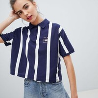 Pull&bear stripe polo tshirt at asos.com