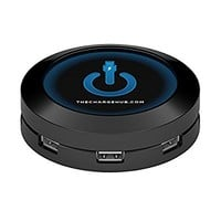 ChargeHub Round - 7 Port USB Universal Charging Station - Black