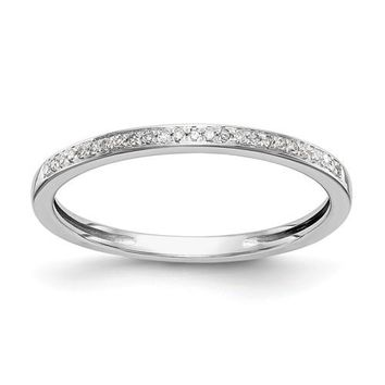 14k White Gold Diamond Wedding Band Set Of 2