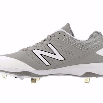 DCCK1IN new balance 4040v3 metal cleats low cut gray white